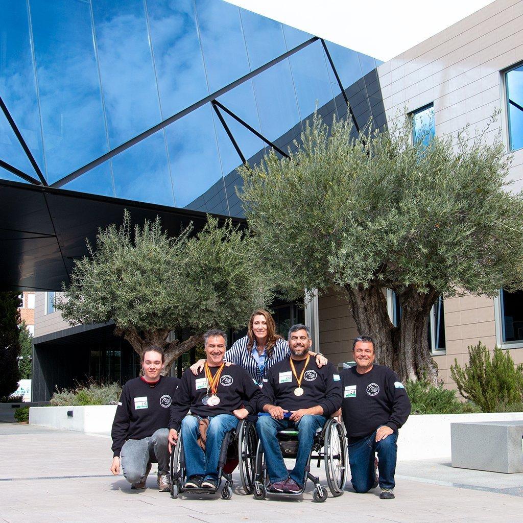 El equipo de esquí adaptado EDICOM/CESG-INTEGRA
