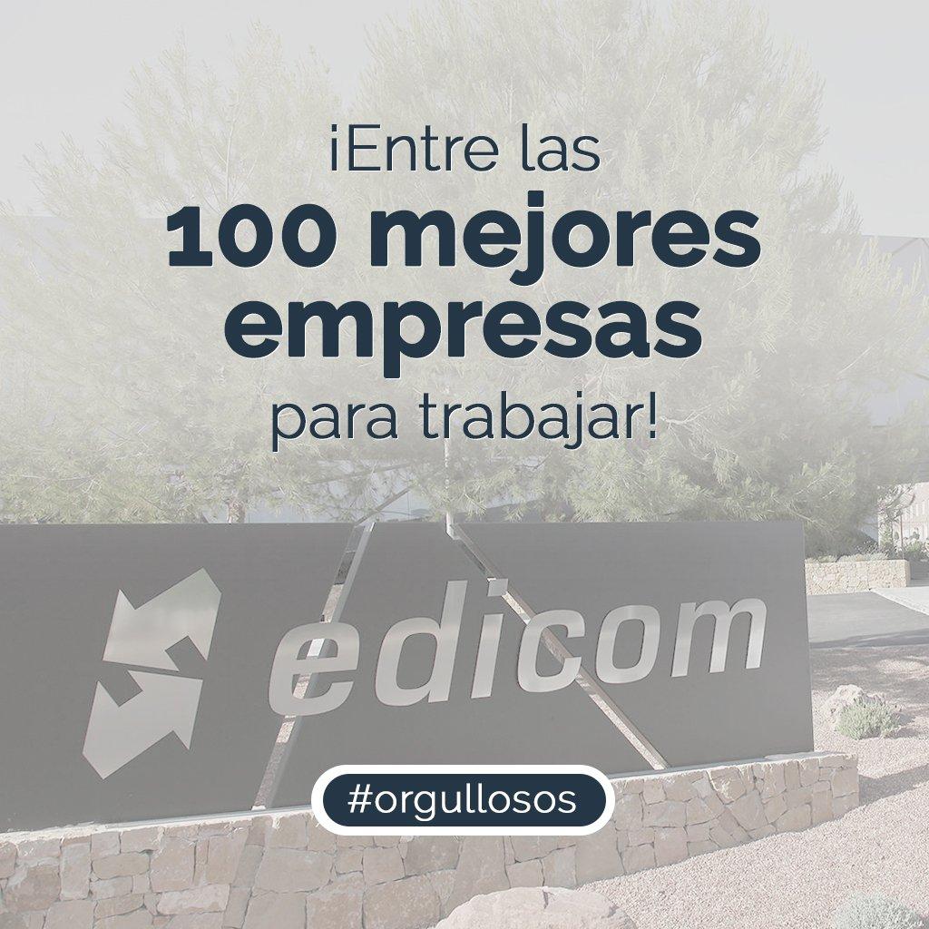 EDICOM seleccionada como una de las 100 mejores empresas para trabajar en España por Actualidad Económica