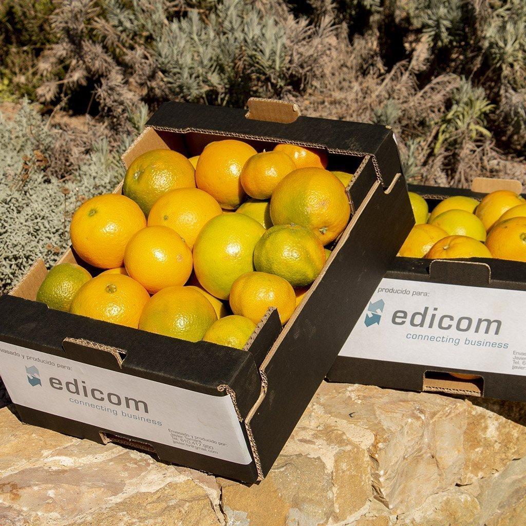 EDICOM regala naranjas a sus empleados